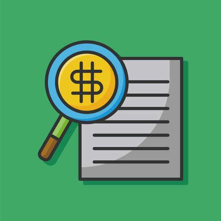 financial concept: receipt icon