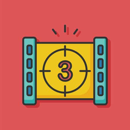 countdown: countdown film icon
