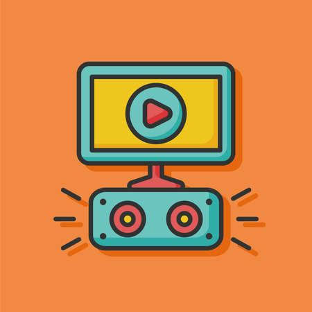 hd tv: HD TV icon Illustration