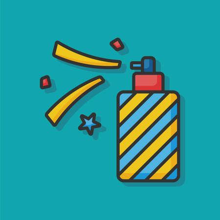 birthday party: birthday party horn icon Illustration