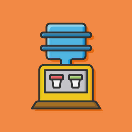 fountains: Drinking fountains icon Illustration