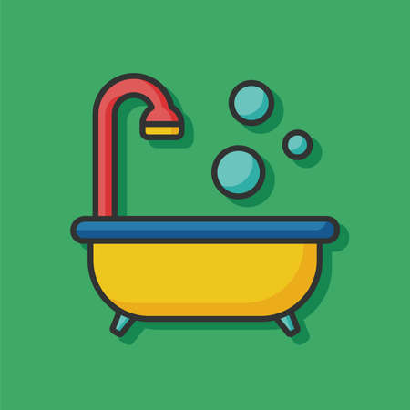 water sanitation: bathtub icon