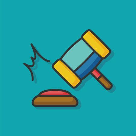 right choice: Gavel icon Illustration