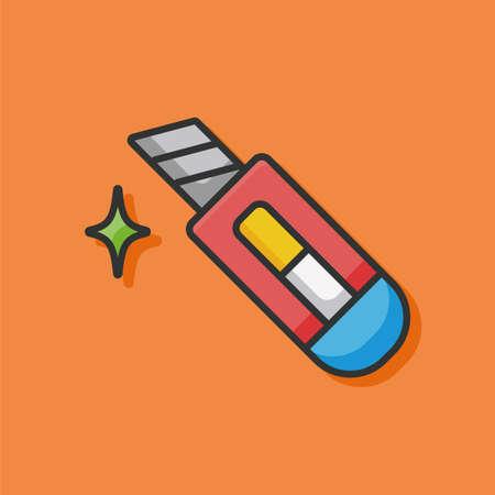 utility knife: Utility knife icon Illustration