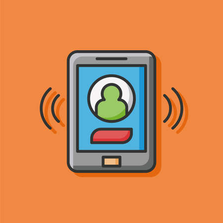 phone business: cell phone icon