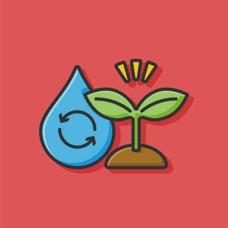 rice and beans: seed icon Illustration