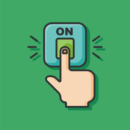 switch: switch power icon Illustration