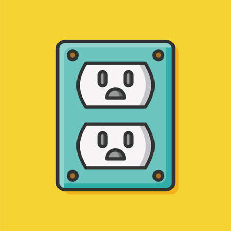 socket adapters: outlet icon