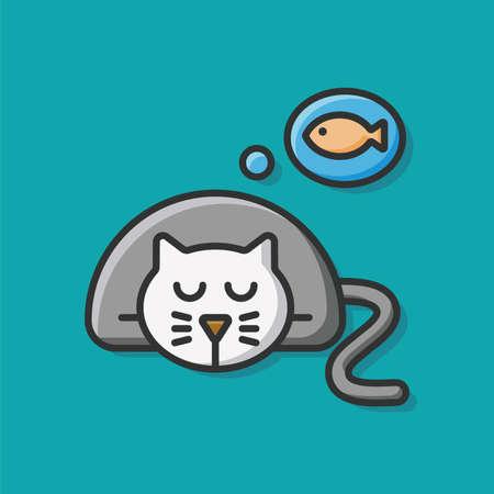 pet cat: pet cat icon Illustration