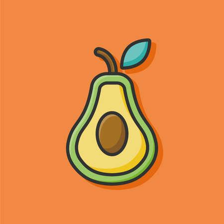 avocado: fruits avocado icon