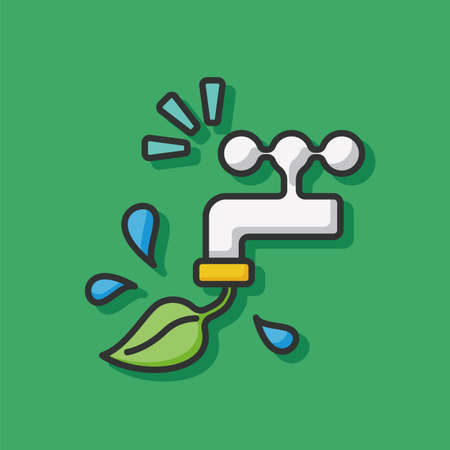 environmental protection: Environmental protection concept conserve water icon Illustration