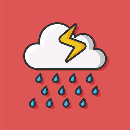 raining: raining cloud icon
