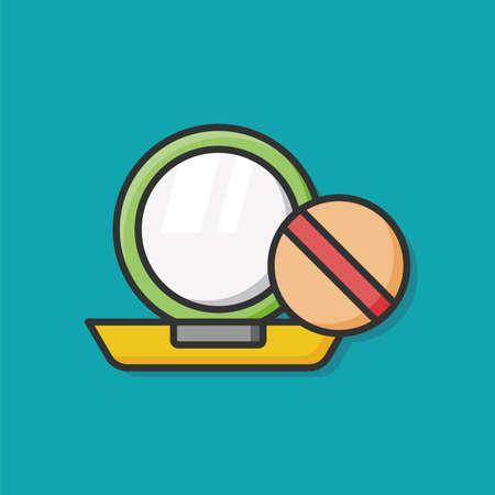 makeup powder: makeup powder icon Illustration