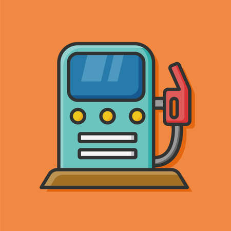 Environmental protection concept use of gasoline icon Illustration