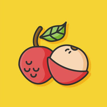 litchi: fruits litchi icon