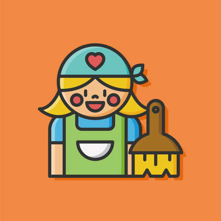 cleaning lady icon