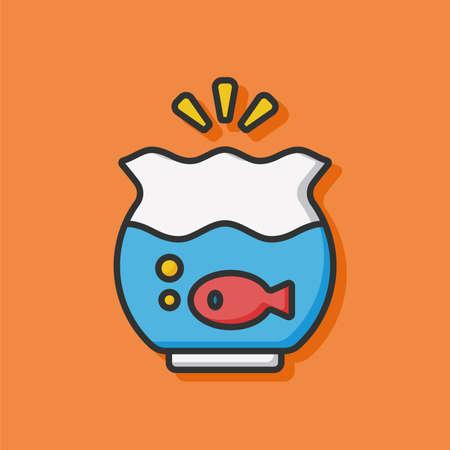 fishbowl: fish bowl icon Illustration