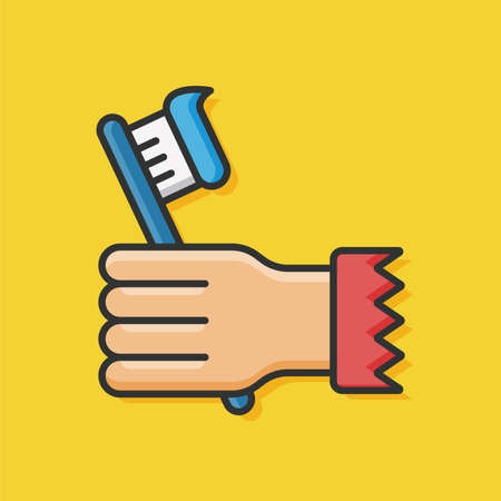 ointment: sanitary toothbrush icon vector Illustration