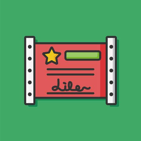 receipt: receipt check icon vector