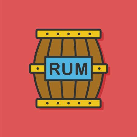 rum: rum flat icon Illustration