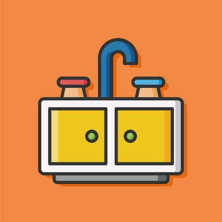 washbasin: washbasin flat icon