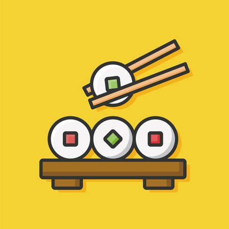 salmon dinner: sushi icon
