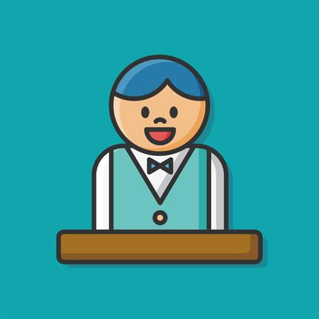 waiter: waiter icon Illustration