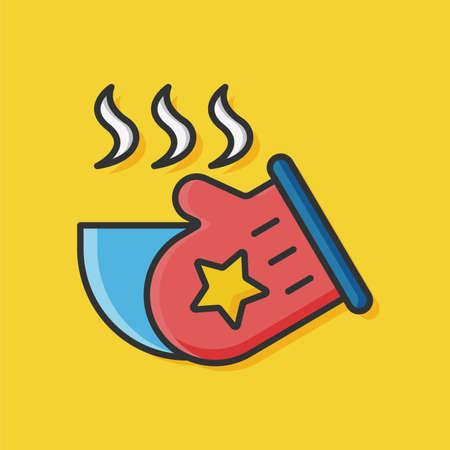latex glove: kitchen glove icon