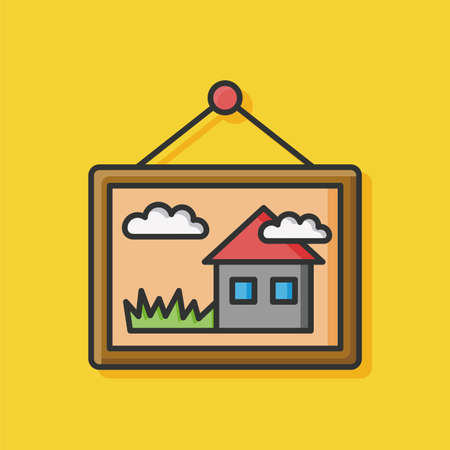art painting: art painting icon vector Illustration