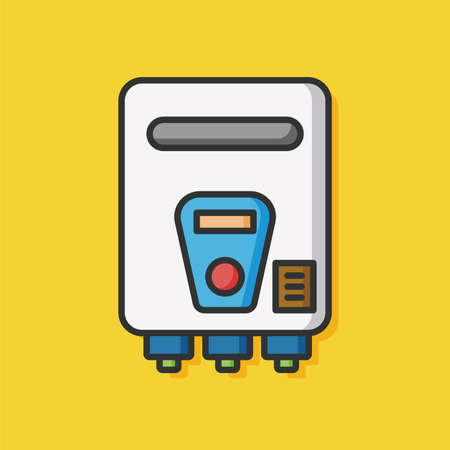 gas burners: Water heaters icon Illustration