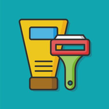 rasoio: shampoo and shaver icon Vettoriali