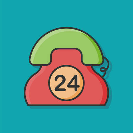 emergency call: 24hrs emergency call icon