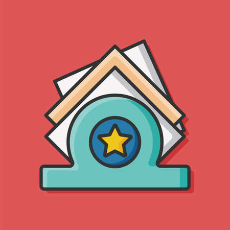 servilleta: icono de la servilleta Vectores