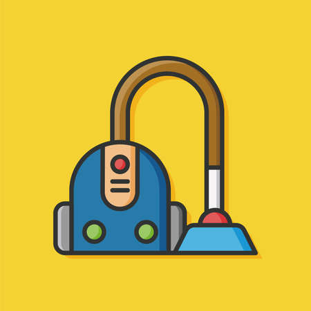cleanup: Vacuum cleaner icon Illustration