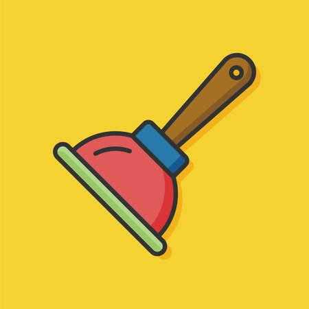 sanitary: sanitary vector plunger icon Illustration