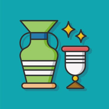 greek pot: arte icona ceramiche vettore Vettoriali