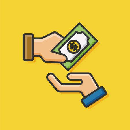 cash money: money cash vector icon