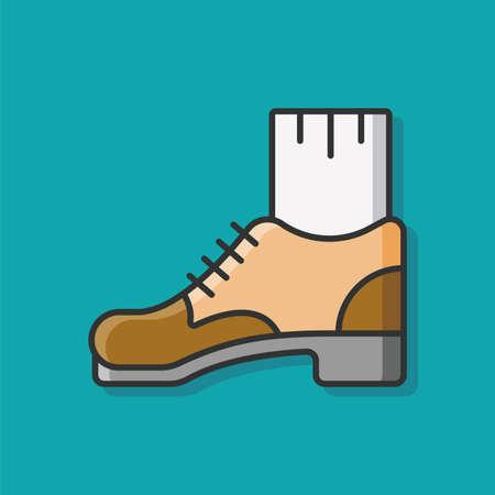 footwear: leather shoes footwear icon