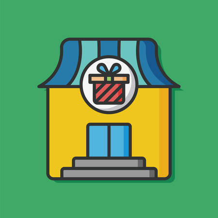 mall signs: gift shop store icon