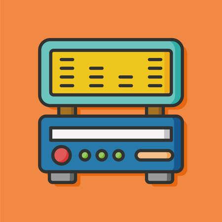 equipo de sonido: icono de radio Equipo de m�sica Vectores