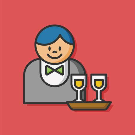 casino dealer: Casino Dealer man icon