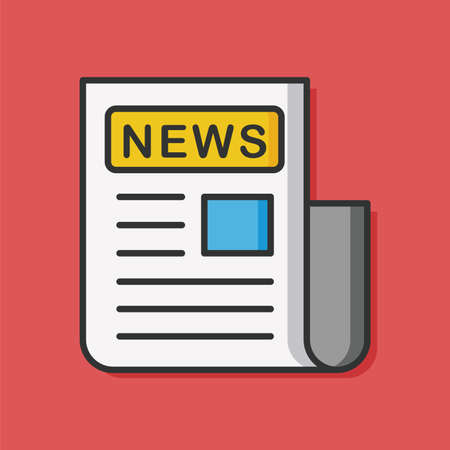 news paper: news paper vector icon