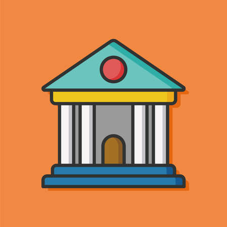 governmental: law court vector icon