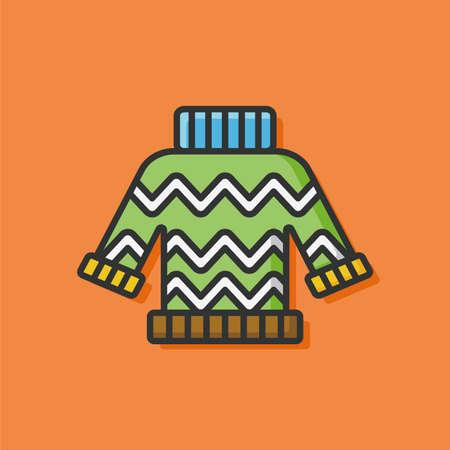 sueter: invierno su�ter icono de la ropa Vectores