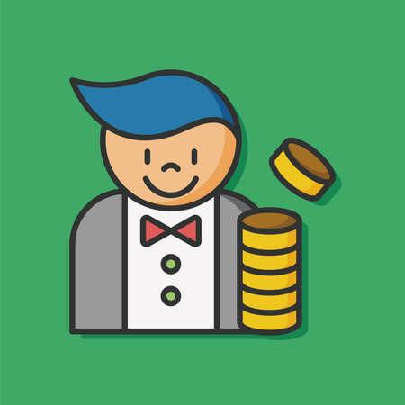 dealer: Casino Dealer man icon