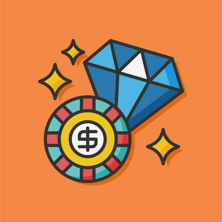 vegas sign: casino money gambling icon