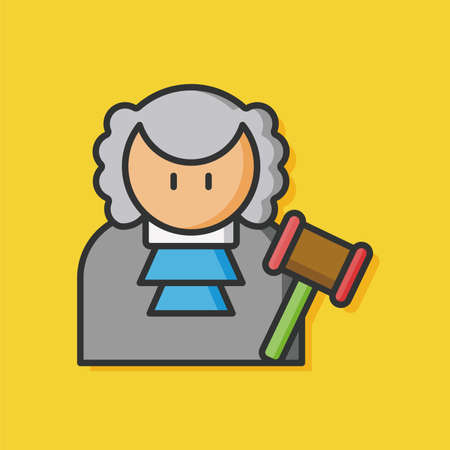 female judge: occupation character judge icon