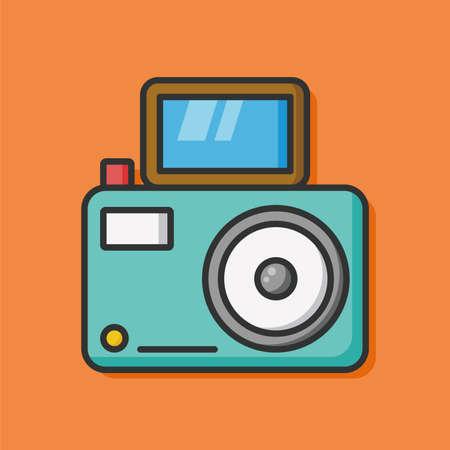 camera film: camera film photo icon Illustration