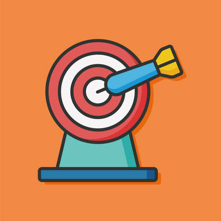 intentions: Archery target game icon Illustration