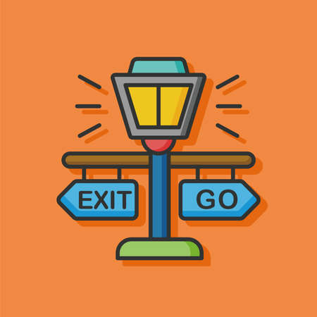 exit sign icon: zoo exit sign icon